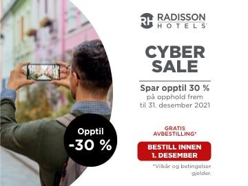 Cyber Sale: opptil 30% rabatt på Radisson Hotels